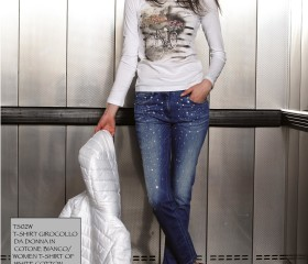 PANTALONE DA DONNA IN DENIM BLU